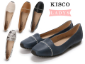 ☆2018春夏SALE☆【10,000円以上お買い上げで送料無料!】KISCO(キスコ)レディース No.9061【牛革】ステッチポイントカジュアルパンプス