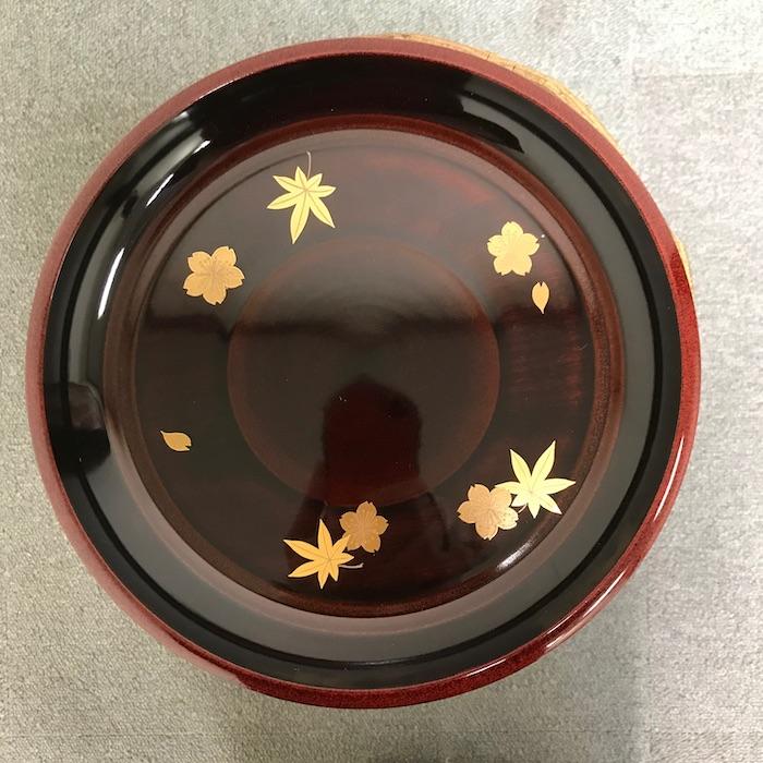 春秋蒔絵菓子盆