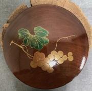 葡萄蒔絵ヤンポ菓子器