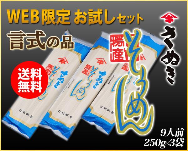 【WEB限定】言式~KOTOSHIKI~(そうめん)