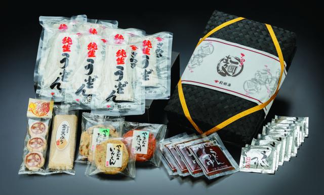 銭形金運アップセット(竹籠入り)(14人前)【送料無料】