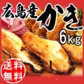 【送料無料】 広島県産冷凍牡蠣2Lサイズ 6kg (1kg×6)