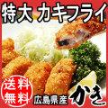 【送料無料】 広島県産冷凍カキフライ特大サイズ ( 40g×20個)