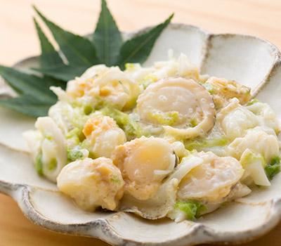 帆立貝サラダ