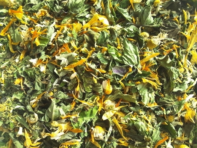 ハーブティー【オレンジの風】リーフL 20g 北海道より減農薬有機肥料の国産ハーブのハーブティーをお届けします