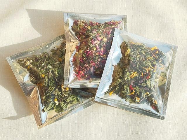 【お試しハーブティーセットB(ブレンドハーブティー3種)】北海道より減農薬有機肥料の国産ハーブのハーブティーをお届けするお得なセット