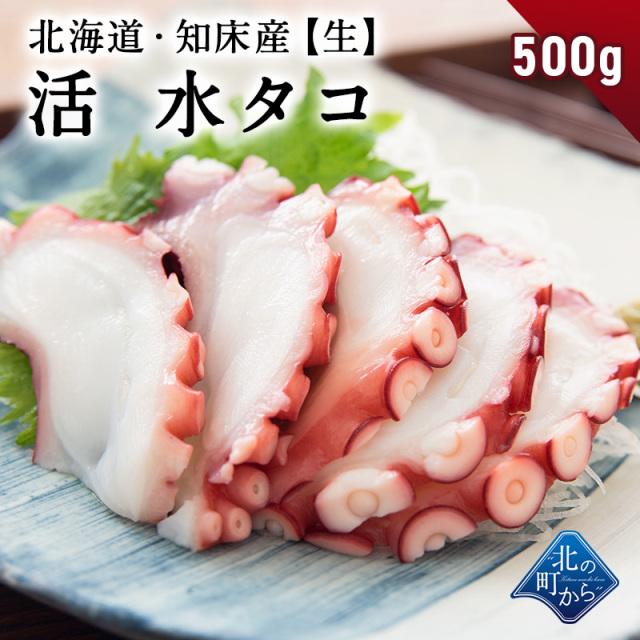 ミズダコ 知床産 水タコ生500g 生食も可能で刺身にするととても美味しいです! タコ ミズタコ 蛸 たこ みずだこ タコ