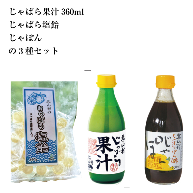 【送料無料】 果汁360ml・塩飴・じゃぽんのセット
