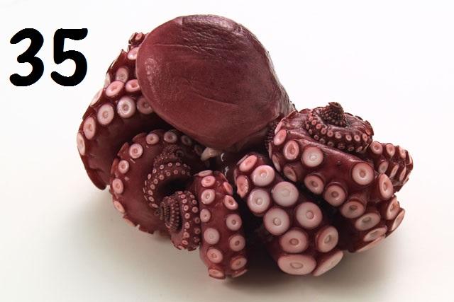 35) 蒸蛸 (タコ) 刺身用 1尾