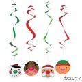 クリスマス ハンギングスワールス 6個1セット