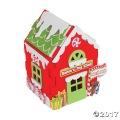 [12個組]【子どもクリスマス工作キット07】 フォーム工作 3Dサンタズトイショップキット