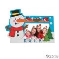[12個組]【子どもクリスマス工作キット02】 2019スノーマン フォトフレーム マグネットキット