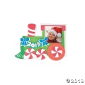 [12個組]【子どもクリスマス工作キット01】 2019 クリスマス トレイン フォトマグネットキット