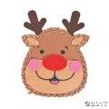 [12個組]【子どもクリスマス工作キット10】 トナカイ フェルトステッチ クラフトキット