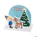 [12個組]【子どもクリスマス工作キット10】 クリスマス Rudolph the Red-Nosed Reindeer スタンドアップ キット