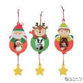 [12個組]【子どもクリスマス工作キット17】 クリスマスキャラクター フォトオーナメントキット