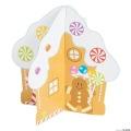 [12個組]【子どもクリスマス工作キット04】 3D ジンジャーブレッドハウス ステッカーシーン
