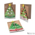 [12個組]【子どもクリスマス工作キット23】クリスマスツリー カードクラフトキット