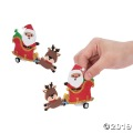 [12個組]【子どもクリスマス工作キット14】クリスマス サンタ&ソリ プルバックカーキット