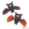 [12個組]【子ども工作キット:ハロウィン H-08】ハロウィン コウモリ ペーパークラフトキット