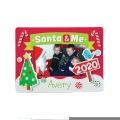 [12個組]【子どもクリスマス工作キット07】 2020 クリスマス  サンタ&ミー フォトマグネットキット