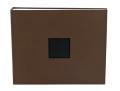 【スクラップブッキング アルバム 12インチ】12x12 american crafts - Dリングアルバム・クロス(chestnut - ブラウン)