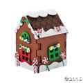 [12個組]【子どもクリスマス工作キット04】 フォーム工作 3Dジンジャーブレッドハウスキット