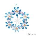[12個組]【子どもクリスマス工作キット08】 フォーム工作 スノーマン リースキット