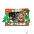 [50個組]【子どもクリスマス工作キット06】 メリークリスマス フォトフレーム マグネットキット