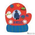 [24個組]【子どもクリスマス工作キット03】 ミトン フォトフレームキット