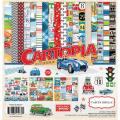 【スクラップブッキング ページキット 12インチ】12x12 carta bella paper - cartopia collection kit(カートピア コレクションキット)