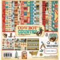 【スクラップブッキング ページキット 12インチ】12x12 carta bella paper - cowboy country collection kit(カウボーイカントリー コレクションキット)