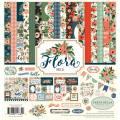 【スクラップブッキング ページキット 12インチ】12x12 carta bella paper - flora no.2 collection kit(フローラ No.2 コレクションキット)