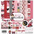 【スクラップブッキング ページキット 12インチ】12x12 carta bella paper - hello sweetheart collection kit(ハロースイートハート コレクションキット)