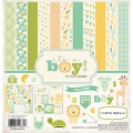 【スクラップブッキング ページキット 12インチ】12x12 carta bella paper - it's a boy(ベビー:イッツアボーイ)