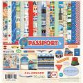 【スクラップブッキング ページキット 12インチ】12x12 carta bella paper - passport collection kit(パスポート コレクションキット)