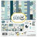 【スクラップブッキング ページキット 12インチ】12x12 carta bella paper - rock-a-bye baby boy collection kit(ロッカバイベイビー ボーイ コレクションキット)