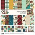 【スクラップブッキング ページキット 12インチ】12x12 simple stories - cabin feber collection kit(キャビンフィーバー(キャンプ) コレクションキット)