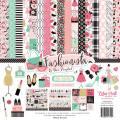 【スクラップブッキング ページキット 12インチ】12x12 echo park paper - fashionista collection kit(ファッショニスタ コレクションキット)