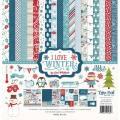 【スクラップブッキング ページキット 12インチ】12x12 echo park paper - I love winter collection kit(アイラブウィンター コレクションキット)