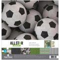 【スクラップブッキング ページキット 12インチ】12x12 paper house paper crafting kit - all star: soccer(オールスター サッカー KTSP1033)
