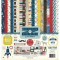 【スクラップブッキング ページキット 12インチ】12x12 echo park paper - boy petticoats & pinstripes collection kit(男の子:ペチコート&ピンストライプス コレクションキット)