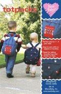 【日本語訳付】Sew Baby! 輸入型紙 Tot Packs/キッズリュック