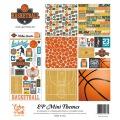 【スクラップブッキング ページキット 12インチ】12x12 echo park paper mini themes - basketball(ミニテーマ バスケットボール)