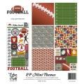 【スクラップブッキング ページキット 12インチ】12x12 echo park paper mini themes - football(ミニテーマ フットボール)