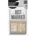 【スクラップブッキングキット】POCKET PAGES [themed cards]wedding(【テーマカード 72枚】ウェディング #TPC-14)