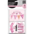 【スクラップブッキングキット】POCKET PAGES [embellished cards] hello baby girl(【エンベリッシュド 6枚】ベビーガール #TPCE-04)