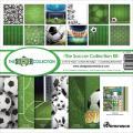 【スクラップブッキング ページキット 12インチ】12x12 reminisce - the soccer collection kit(サッカー TSOC-200)
