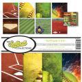 【スクラップブッキング ページキット 12インチ】12x12 reminisce - softball【2】 collection kit(ソフトボール【2】 TSOFC-201)