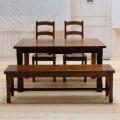 エクステーションテーブル  4点セット(テーブル+チェア2脚+ベンチ1脚) TYD039/TYB020/TYB007(DBR)